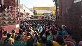 Devotees during mahapuja
