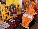 Swamishri sanctifies murtis for the new BAPS sanskardham at Turkha road, Botad, India