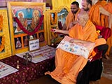 Swamishri sanctifies murtis for the new BAPS sanskardham at Ashok Vatika, Botad, India