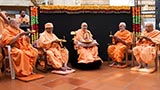 On the 210th birthday of arti, senior sadhus perform arti of Shri Harikrishna Maharaj and Swamishri
