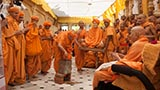 Sadhus remembering the divine work of Shastriji Maharaj