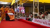 Swamishri blesses devotees from Sevaliya