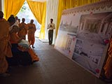 Swamishri watches new BAPS Shri Swaminarayan Mandir, Varachha (Surat), India, photos