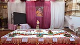 A cake made as part of the celebrations on HH Pramukh Swami Maharaj's 92nd birthday, his Janm Jayanti