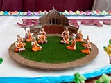 Decorations to mark Swamishri's Janm Jayanti celebrations