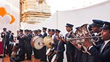 BAPS youths from Nadiad play a band