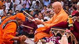 Swamishri blesses percussion maestro