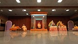 Swamishri during the satsang assembly