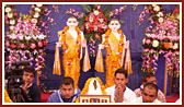 Murtis to be consecrated at BAPS Sanskardham, Amraivadi (suburb of Ahmedabad)