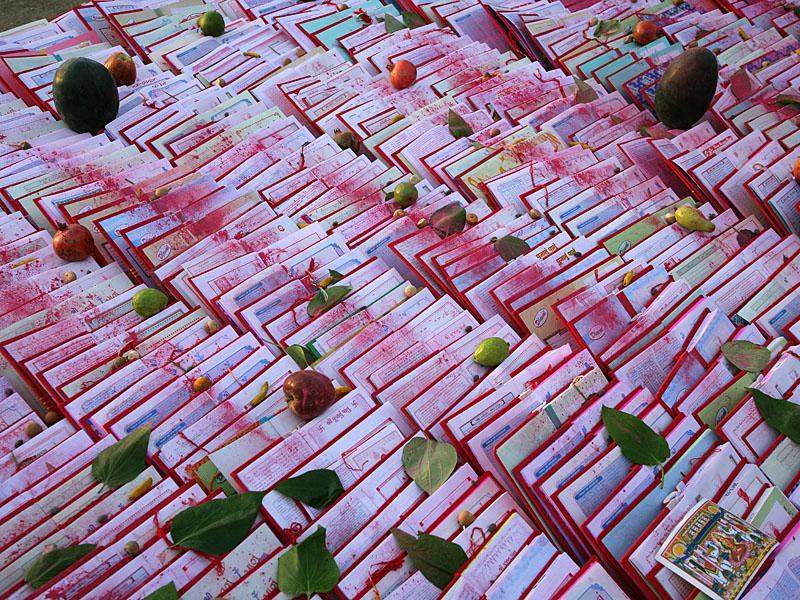 Account books sanctified during Chopda Pujan