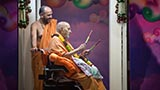 Swamishri sanctifies raas sticks