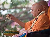 Swamishri blesses all by showering petals