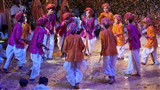 Kids perform traditional raas
