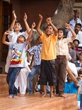 Kids rejoice before Swamishri
