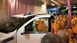 Swamishri departs for Sarangpur
