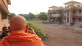 Swamishri observes residential complex for devotees