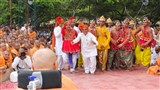 Jambusar Mandal perform before Swamishri