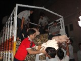 Dispatch of relief material to Uttarakhand, July 10