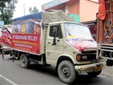 Relief supplies headed for Uttarkashi, July 13