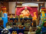 Annakut for celebration of New Year in front of Swamishri