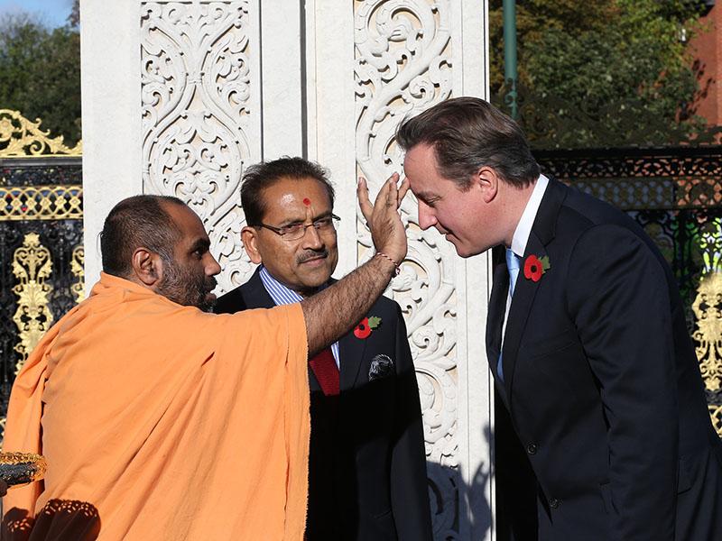 British Prime Minister David Cameron Celebrates Hindu New Year at ...