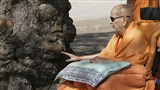 Swamishri reverentially touches holy 'Shami' tree