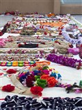 Garlands made by devotees to honor Swamishri