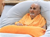 HH Pramukh Swami Maharaj at 5:45 am in the morning