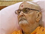 HH Pramukh Swami Maharaj early in the morning