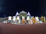 Pushpadolotsav celebration in the mandir grounds