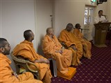 Sadhus during the satsang assembly, Christchurch