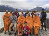 Sadhus and devotees in Queenstown