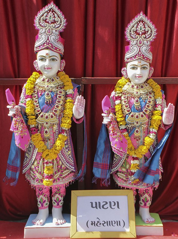 Murtis to be consecrated for new BAPS Shri Swaminarayan Mandir, Patan, Mahesana