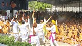 Symbolic celebration of Pushpadolotsav