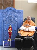 Swamishri after pratishtha