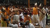 Youths from Surat perform a skit before Swamishri