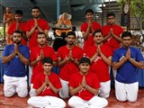 Youths from UK with Swamishri
