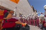 Akshar Dhwani band of Dallas TX welcomes Swamishri