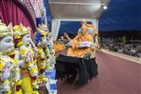 Swamishri performs pujan of murtis of BAPS Shri Swaminarayan Mandir, Washington DC