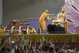 Swamishri plays ras with Pujya Tyagvallabh Swami