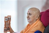 Swamishri plays the kartal