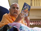 Swamishri inaugurates a video publication, 'Karu Vandana Pragji Sadgurune...'