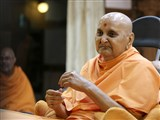 Swamishri in a divine mood at night