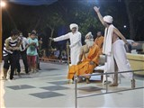 A skit presentation by Rajkot youths before Swamishri