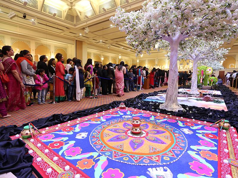 Hindu new year celebrations london uk for Annakut decoration ideas