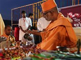 Vedic Pujan of first pillar for Pune mandir
