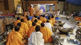 Presentation of kitchen utensils, food grains and food preparation before Swamishri