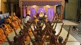 Newly initiated sadhus participate in diksha ceremony