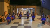 Children perform a traditional dance before Swamishri
