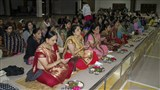 Mothers of sadhaks and devotees during mahapuja